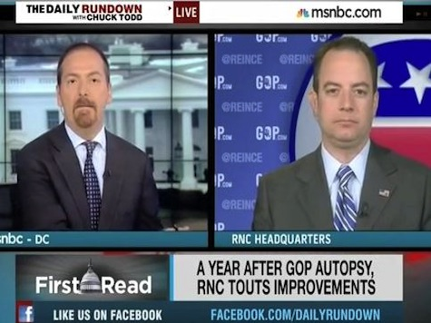 Reince Priebus Counters Chuck Todd Over Random Republicans Saying Stupid Things With One Word: 'Biden'