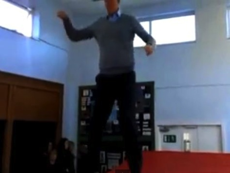 UK MP Trampolines for Sport Relief Charity