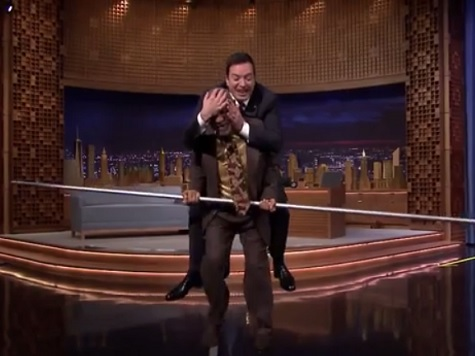 Bill Cosby, Jimmy Fallon Tightrope Walk on 'The Tonight Show'