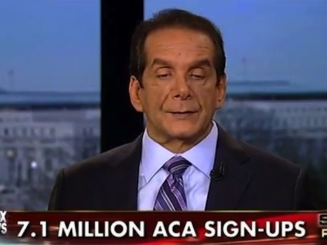 Krauthammer: ObamaCare 7.1 Million A 'Phony Number'