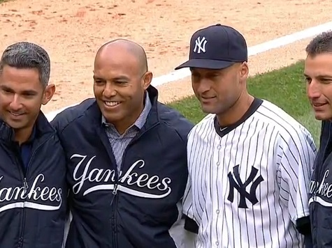 Yankees' 'Core Four' Honored Before Derek Jeter's Final Home Opener
