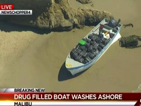 Boat Laden with Marijuana Washes Ashore