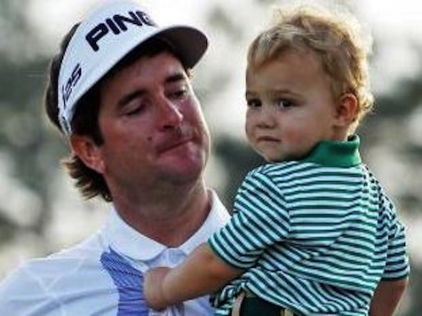 Bubba Watson Celebrates Masters Win With Son