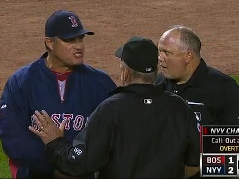 Red Sox Manager Ejected After Arguing Replay Ruling