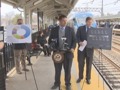 Watch: Sen. Richard Blumenthal Narrowly Avoid a Train During a Railway Safety Presentation
