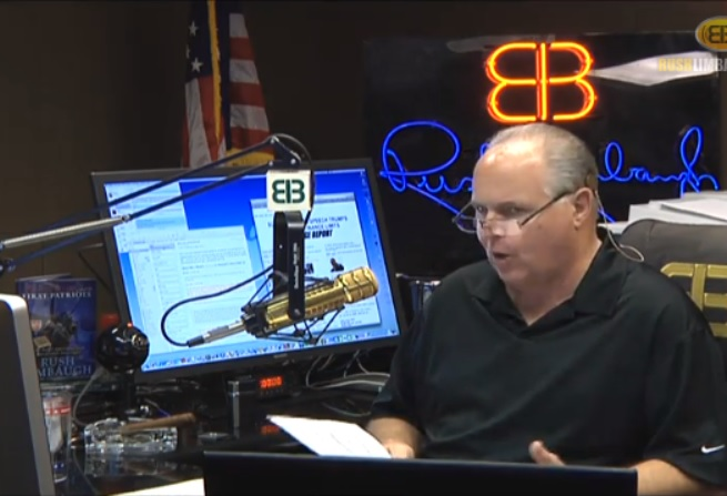 Rush Limbaugh: Anybody That's Not an 'Obamaite' Is an Enemy of the State