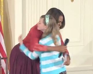 Girl Hands Michelle Obama her Father's Resume Because He's 'Been Out of Work for Three Years'