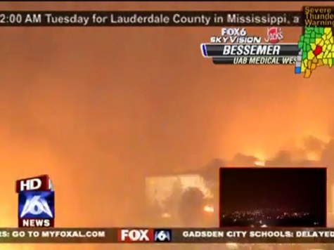 Video: Tornado Caught on Live Television in Alabama