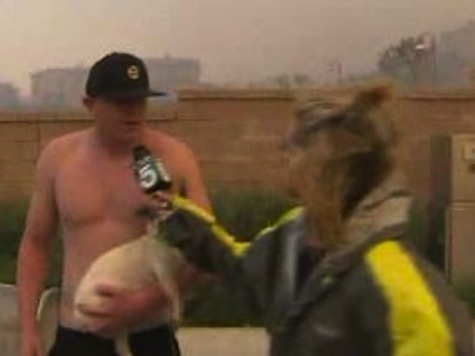 Shirtless Man Asks Out News Anchor During Live Wildfire Coverage