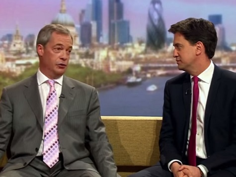 Labour Leader Ed Miliband Refuses to Debate Nigel Farage