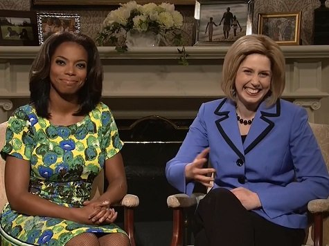 'Hillary Clinton' and 'Michelle Obama' Get Chippy in SNL Cold Open