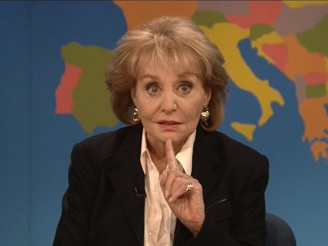 Barbara Walters Makes Cameo on SNL's 'Weekend Update'
