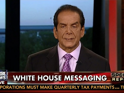 Krauthammer: We Can 'Take Cold Showers for the Next 100 Years,' It Won't Solve Global Warming