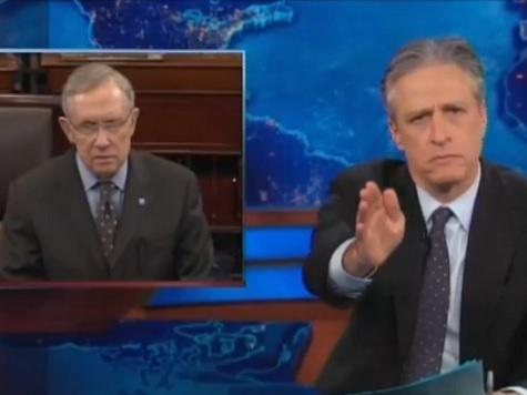 Jon Stewart Hits Harry Reid for His Koch Bros-Adelson Double Standard