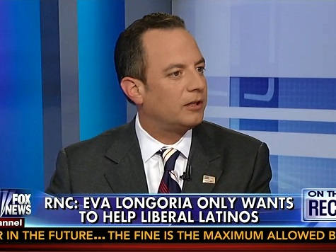 RNC Chair Priebus Slams 'Bogus' Eva Logoria Latino Organization