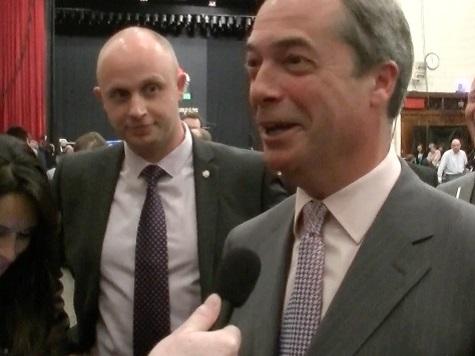 Nigel Farage Sings 'Gooodbyyeeee!' to Nick Clegg