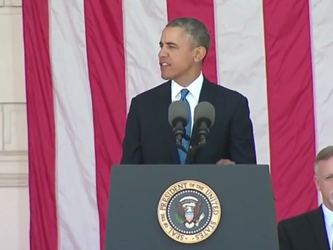Obama Delivers Remarks at Arlington National Cemetery