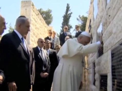 Pope from Jerusalem Pleads 'Please, No More Terrorism'