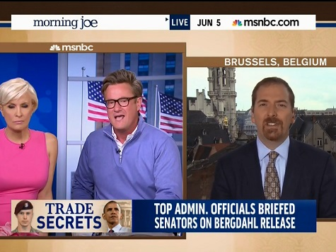 Joe Scarborough Unloads on Chuck Todd Over Defense of Bergdahl Parents