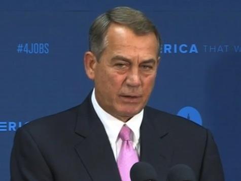 Boehner: I Was Never Briefed on Bergdahl