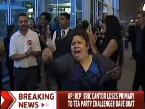 Pro-Amnesty Protesters Add Insult to Cantor Injury