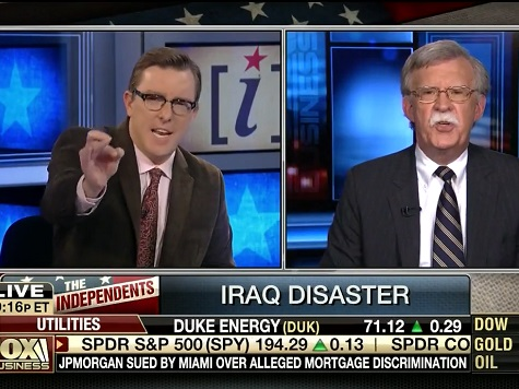 John Bolton, 'Independents' Crew Clash over Iraq