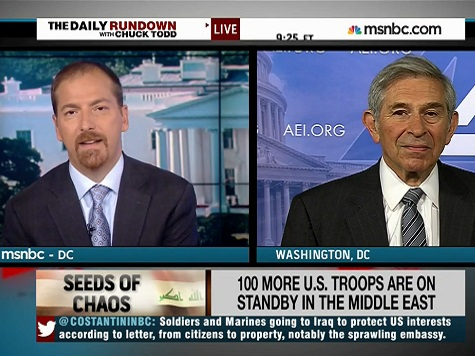 Chuck Todd to Paul Wolfowitz: Are you Trying to Push to Re-Invade Iraq?