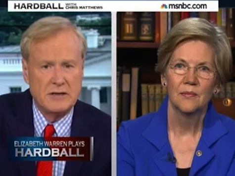 'Stop This!': Elizabeth Warren Scolds Chris Matthews for Tough Questions