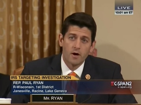 Fireworks Erupt as Paul Ryan Blasts IRS Commissioner: 'I Don't Believe You'