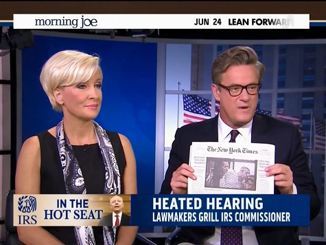 Scarborough Unloads on NY Times, WaPo for Opting to Hit Christie over IRS: 'Scam'