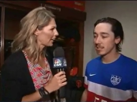 Tim Lincecum Dons USA Soccer Jersey After Completing No-Hit Bid