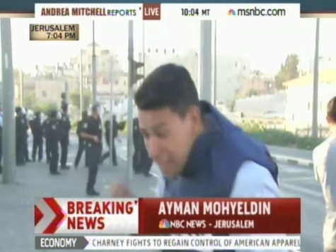 MSNBC Reporter Interrupted Live On-Air By Israeli Police, Palestinian Fighting