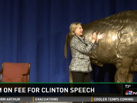 Report: University At Buffalo Refuses to Disclose Amount Hillary Paid for Speech