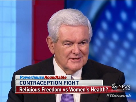 Gingrich: HillaryCare Gave 'Broader' Corporate Rights than Hobby Lobby Decision