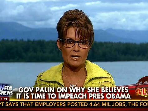 Palin on Boehner Lawsuit: 'You Don't Bring a Lawsuit to a Gunfight'