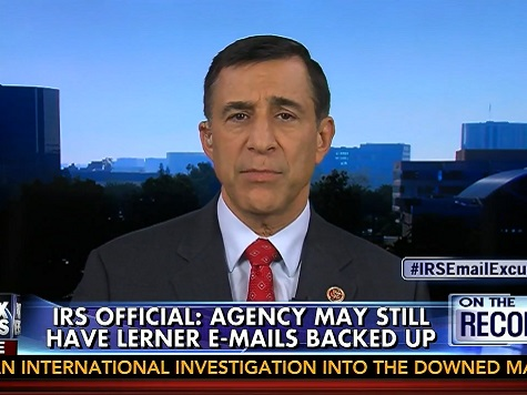 Darrell Issa: Lois Lerner's Emails May Still Exist