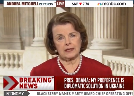 Feinstein: The Leader of The Free World Has to Start Paying 'Increased Attention'