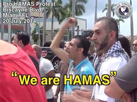 Muslims in Miami Scream: 'We Are Hamas'