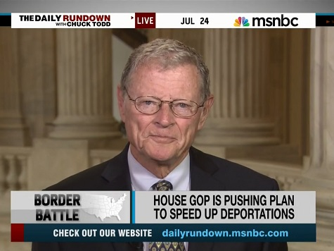 Inhofe: Illegals 'Very Disruptive' to Military