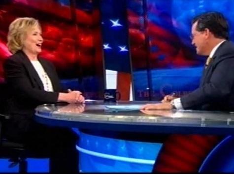 Stephen Colbert Plugs Hillary Book