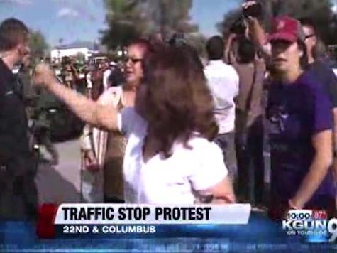 Lawless AZ Crowd Swarms Tucson Police, Attempt to Stop Arrest of Illegal Immigrant