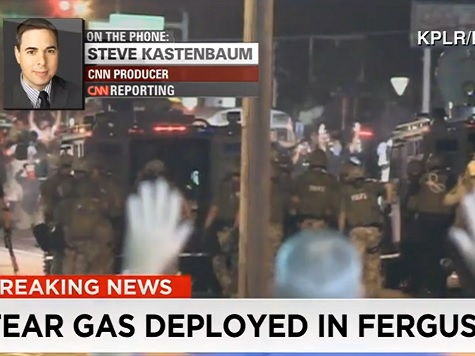 Watch: Police Deploy Tear Gas in Ferguson