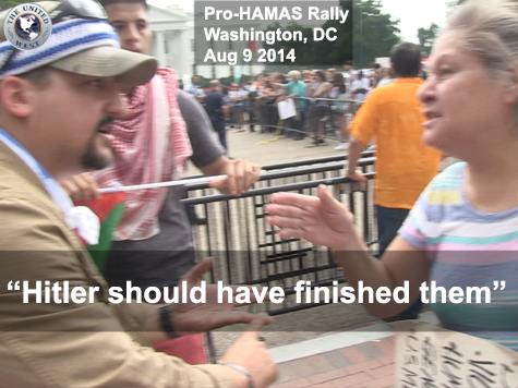 Pro-Palestinian Protester: Hitler Should Have Finished the Jews