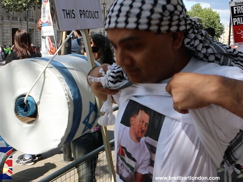 Watch: London Gaza Protests — Hitler T-shirts and 'Physical Intimidation'