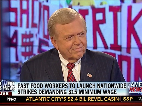 Dobbs: Fast Food Strike 'Desperate Move' to Turn Out Dem Voters