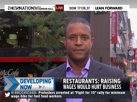 MSNBC: 'Maybe Half' of Min Wage Protesters Are Fast Food Workers