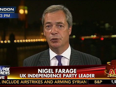 Farage: West 'Not Being Robust Enough in Defending Our Values'