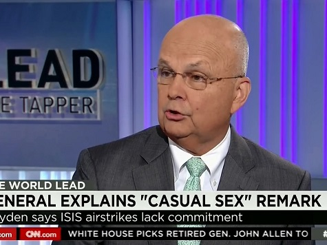 Fmr CIA, NSA Director Hayden: Obama Air Power ISIS Strategy Like 'Casual Sex'