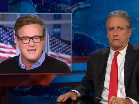 Jon Stewart Mocks Joe Scarborough for Criticizing Hillary 2016 Flirtations