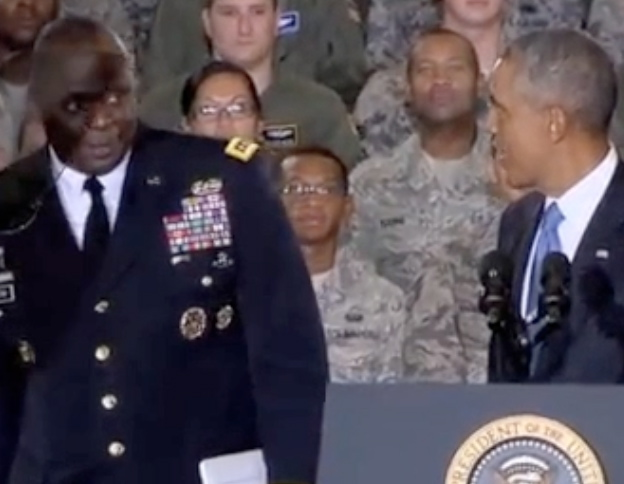 Obama Concerned About Optics of 'Looking Small' Next to Military Leaders